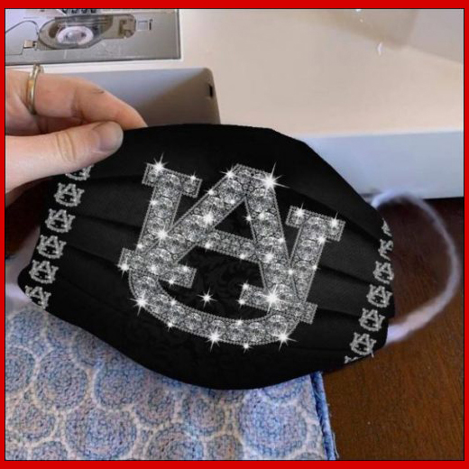 Auburn Tigers glitter diamond cloth face mask reusable