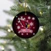 Arizona Cardinals Merry Christmas Circle Ornament