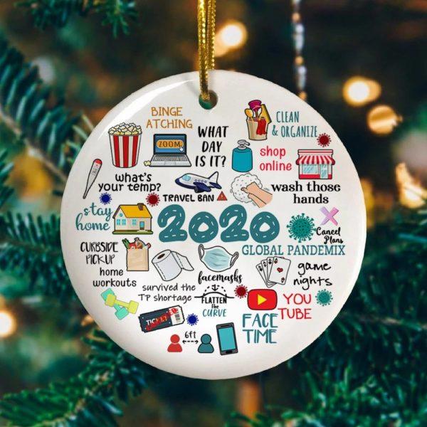 2020 Pandemic Annual Events Quarantine Christmas Ornament