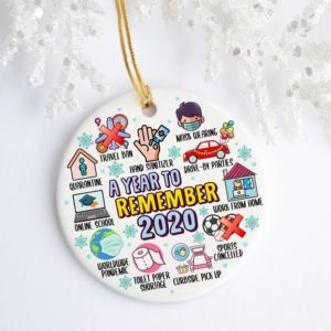 2020 A Year To Remember Quarantine Christmas Ornament