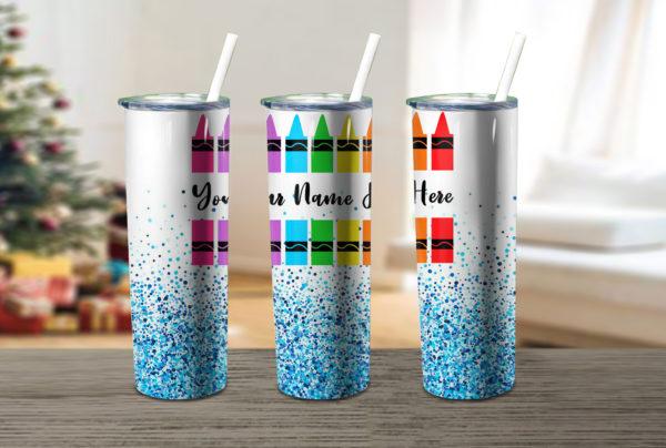 Confetti Crayon Skinny Tumbler
