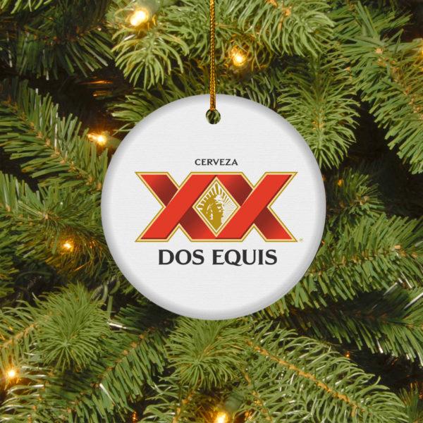 Dos Equis Merry Christmas Circle Ornament