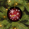 St. Louis Cardinals Merry Christmas Circle Ornament