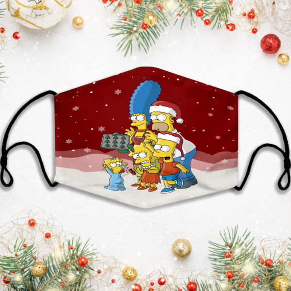 The Simpsons Family XMas Face Mask