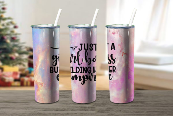 Just A Girl Boss Building Her Empire Skinny Tumbler