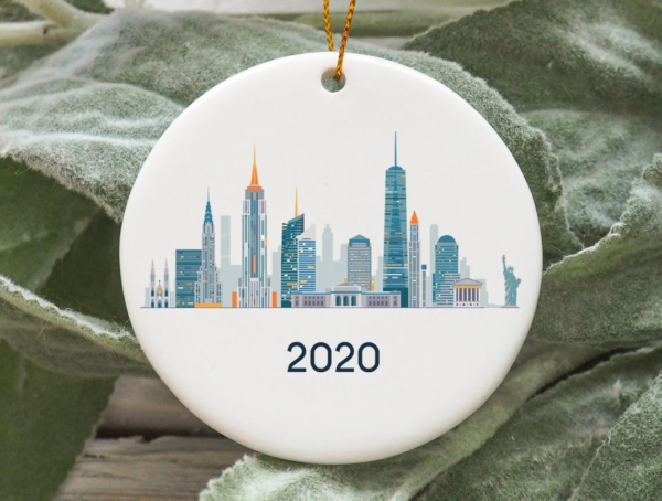 New York City 2020 Christmas Tree Ornament