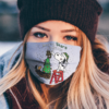 Snoopy and Woodstock Merry Baylor Bears Christmas face mask