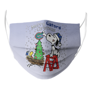Snoopy and Woodstock Merry Florida Gators Christmas face mask