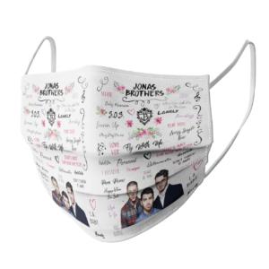 Jonas Brothers face mask
