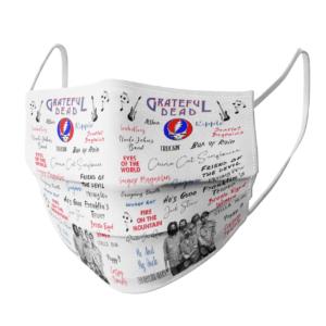 Greatful Dead face mask