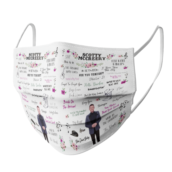 Scotty McCreery face mask