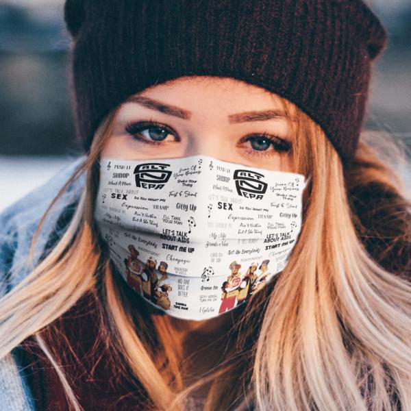Salt N Pepa Inspired face mask