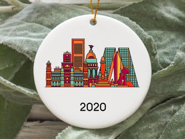 Madrid City 2020 Christmas Tree Ornament