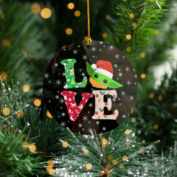 2020 Love Baby Yoda Tree Decoration Christmas Ornament