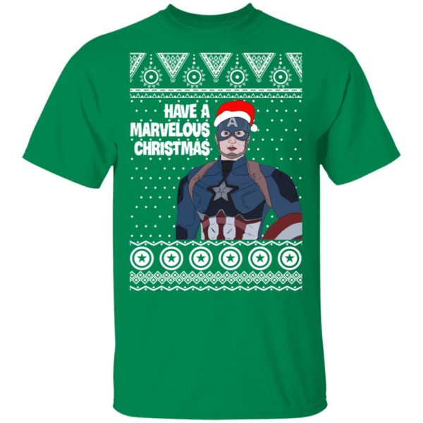 Captain America Have A Marvelous Christmas Avengers Ugly Christmas Sweater