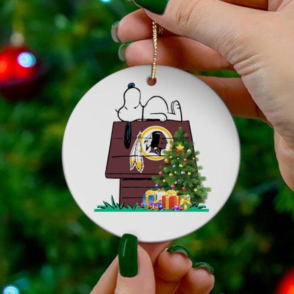 Washington Redskins Snoopy Christmas Circle Ornament
