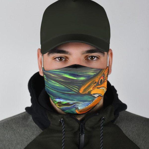 Trout Fishing Art Face Mask