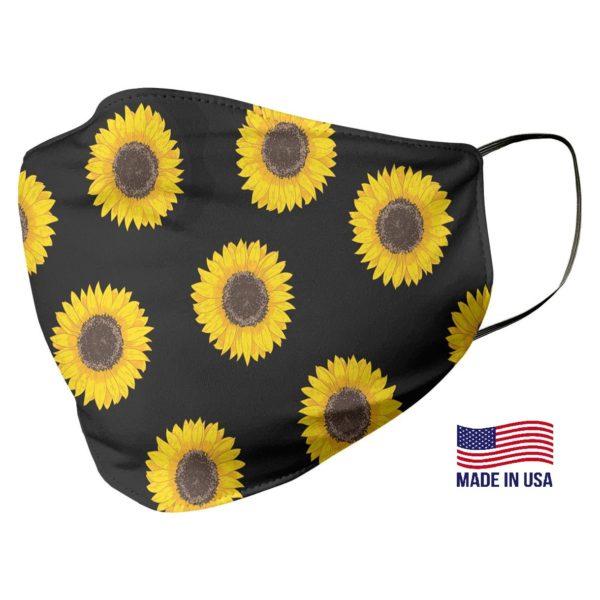 Sunflower Pattern Face Mask