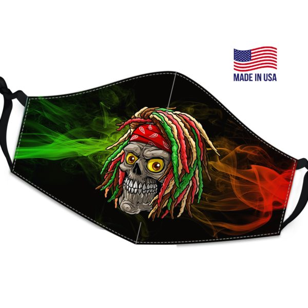 Designed Reggae Reusable Face Mask