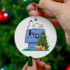 Tennessee Titans Snoopy Christmas Circle Ornament