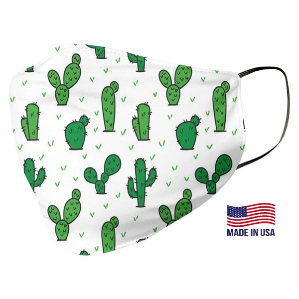 Green Cactus Pattern Face Mask