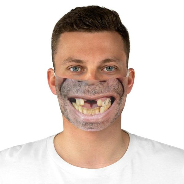 Toothless funny mens face mask