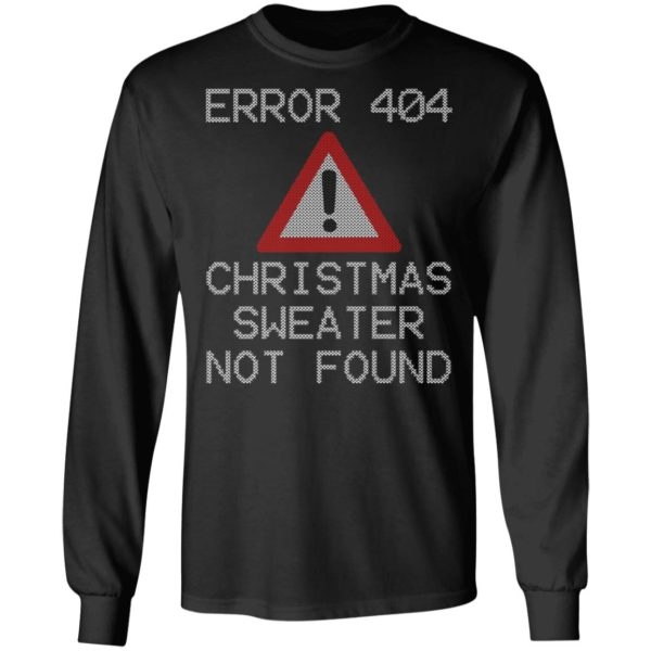 Bah Humbug ERROR 404 T-Shirt Ugly Christmas Sweater