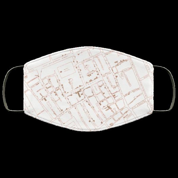 Epidemiology John Snow Cholera Map mask