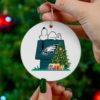 Philadelphia Eagles Snoopy Christmas Circle Ornament
