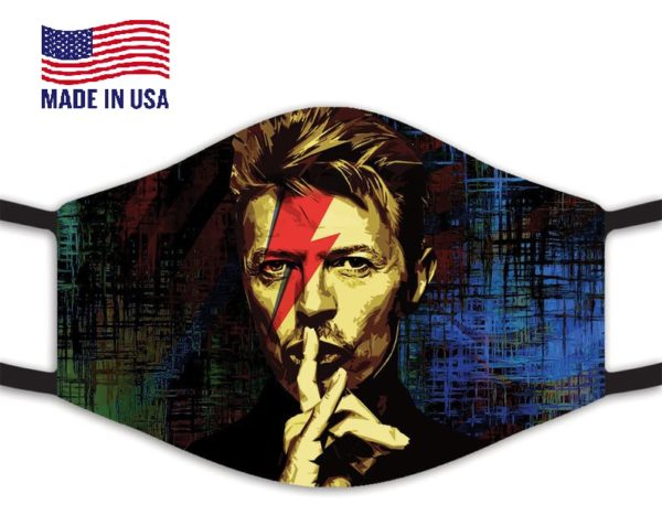 David Bowie Reusable Face Mask