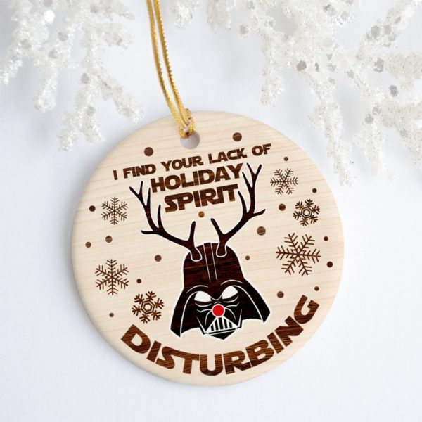 Darth Reindeer I Find Your Lack of Holiday Spirit Disturbing Tree Decoration Christmas Ornament