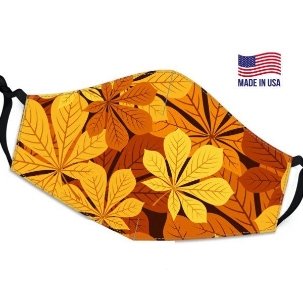 Leaves Sunset Reusable Face Mask