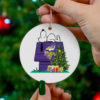 Minnesota Vikings Snoopy Christmas Circle Ornament