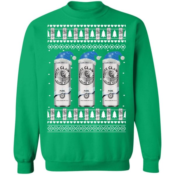 Pure White Claw Hard Seltzer Ugly Christmas Sweater