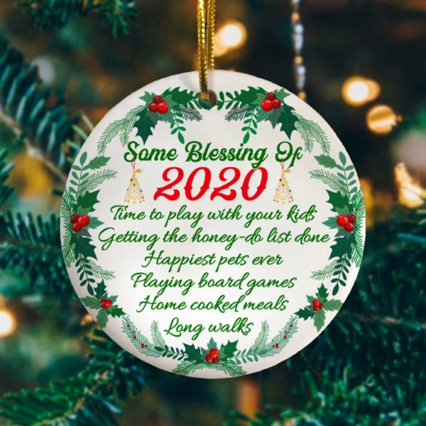 Some Blessing Of 2020 Quarantine Tree Decoration Christmas Ornament
