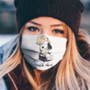 The Peanuts Snoopy Hug Charlie Brown And Woodstock Signature face mask