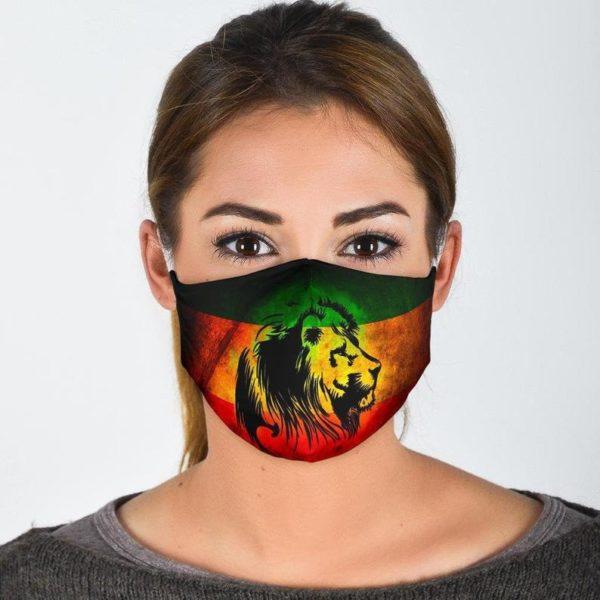 Jamaica Rastafari Rasta Flag Rasta Colors Lion Face Mask