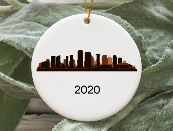 New Orleans City 2020 Christmas Tree Ornament