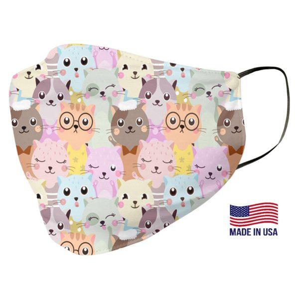 Cute Cat Pattern Face Mask