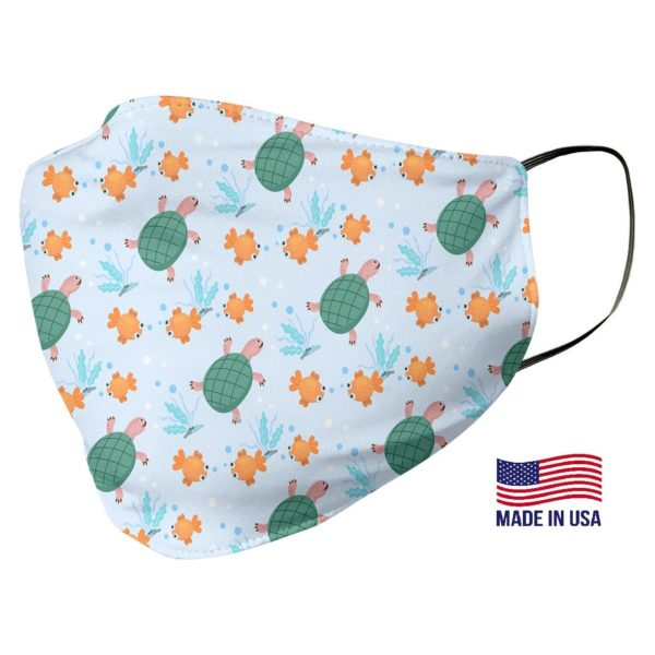 Green Turtle Pattern Face Mask