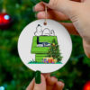 Seattle Seahawks Snoopy Christmas Circle Ornament