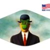 Rene Magritte The Son Of Man Mask Reusable Face Mask