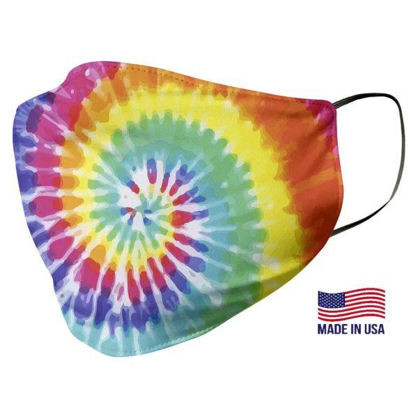 Tie Dye Rainbow Face Mask