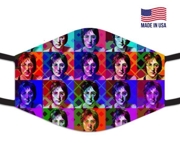 John Lennon Reusable Face Mask