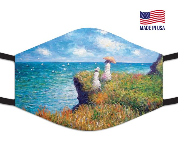 The Cliff Walk At Pourville Reusable Face Mask