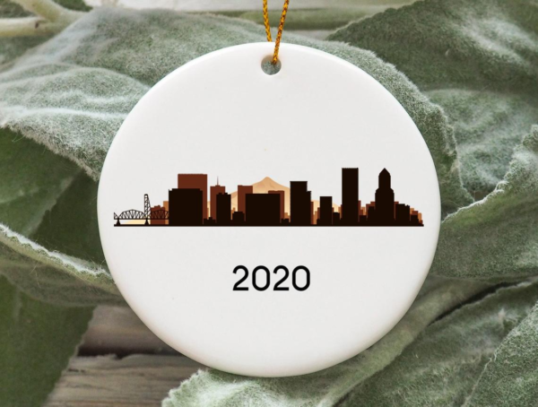 Portland City 2020 Christmas Tree Ornament