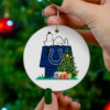 Indianapolis Colts Snoopy Christmas Circle Ornament