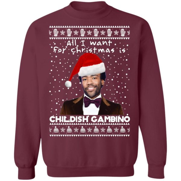 Childish Gambino Rapper Ugly Christmas Sweater