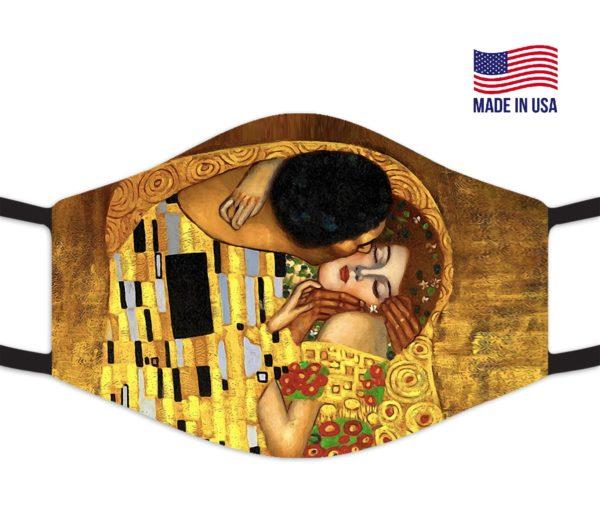 The Kiss Fine Art Famous Reusable Face Mask