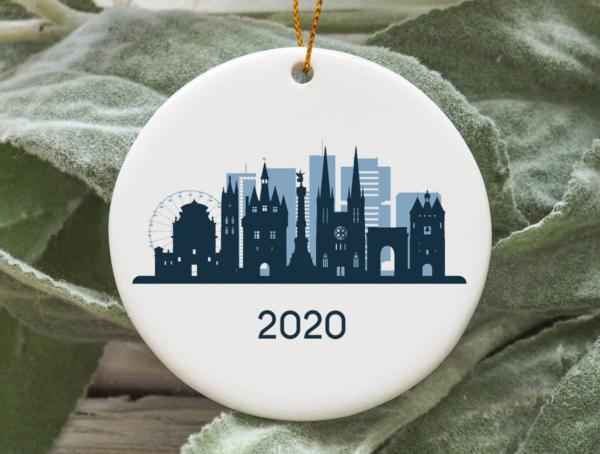 Bordeaux City 2020 Christmas Tree Ornament